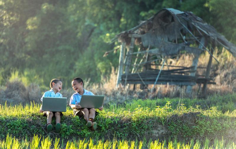 田舎でパソコン